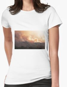 Black Bart Wildfire near Lake Mendocino Womens Fitted T-Shirt