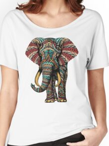 Ornate Elephant (Color Version) Women's Relaxed Fit T-Shirt