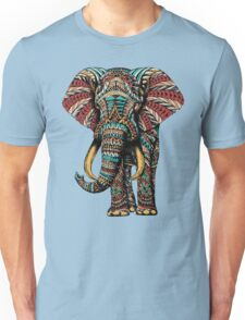 Ornate Elephant (Color Version) Unisex T-Shirt