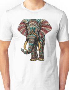 Ornate Elephant (Color Version) Unisex T-Shirt