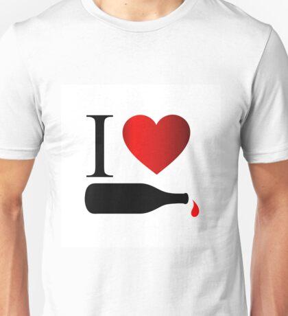 I love wine Unisex T-Shirt