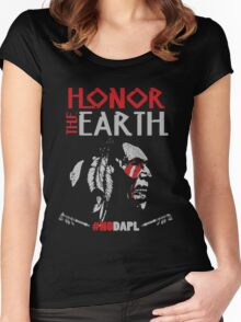 NoDAPL Honor The Earth Women's Fitted Scoop T-Shirt