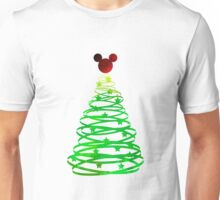 Christmas Mouse Head Inspired Silhouette Unisex T-Shirt