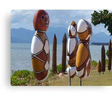 Beachfront people ,Cardwell , North Queensland Canvas Print