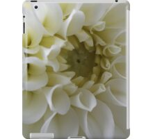 White Dahlia iPad Case/Skin