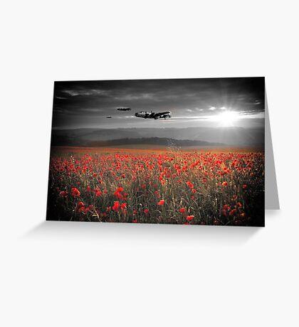 Halifax Bomber Boys Greeting Card