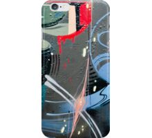 Abstract Graffiti on the textured brick wall iPhone Case/Skin
