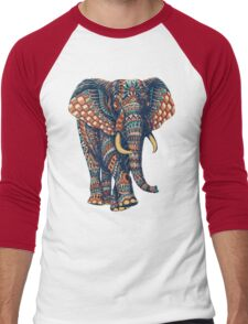 Ornate Elephant v2 (Color Version) Men's Baseball ¾ T-Shirt