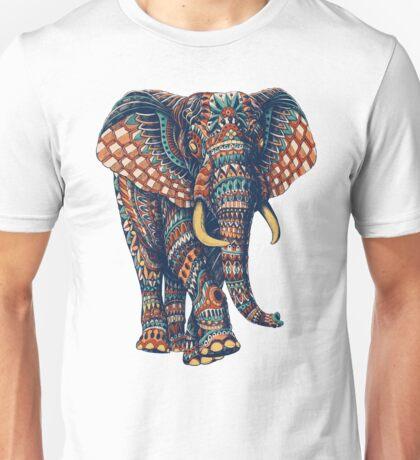 Ornate Elephant v2 (Color Version) Unisex T-Shirt