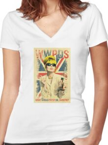 patsy stone Women's Fitted V-Neck T-Shirt