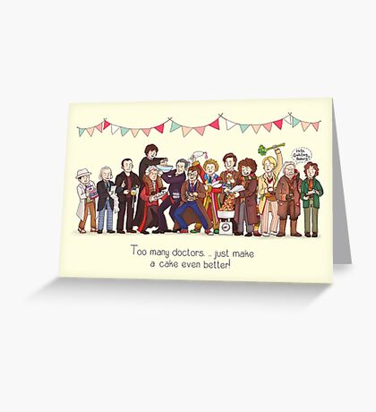 The Great Doctor Bake-Off Greeting Card