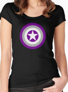 Pride Shields - Grey Ace Women's Fitted Scoop T-Shirt