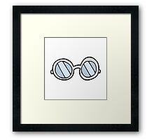 cartoon glasses Framed Print