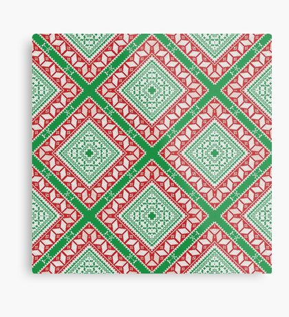 Christmas Knit Pattern Metal Print