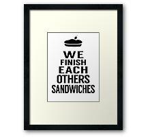 Sandwiches Framed Print