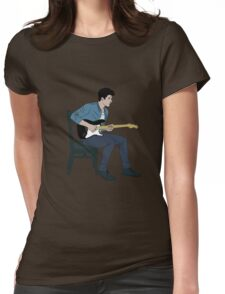 Shawn Mendes - Illuminate lineas finas azul Womens Fitted T-Shirt