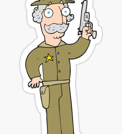 cartoon sheriff Sticker