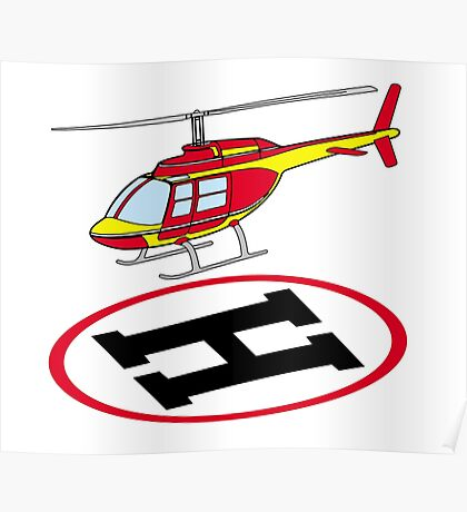 Landing helicopter Poster