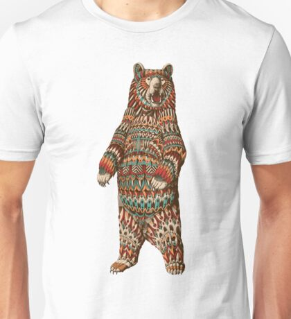 Ornate Grizzly Bear (Color Version) Unisex T-Shirt