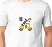 Business man Is Busy With Riding Bike Unisex T-Shirt
