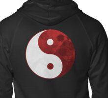 Red Yin Yang Symbol Zipped Hoodie