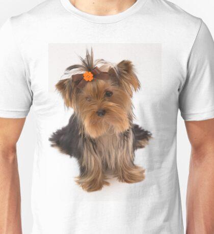 Sweet Yorkie Puppy Unisex T-Shirt