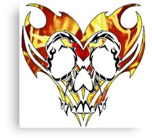 flaming tribal skull Canvas Print