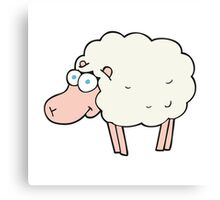 funny cartoon sheep Canvas Print