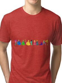 11 Princesses Inspired Silhouette Tri-blend T-Shirt