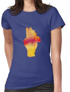 Bear Inspired Silhouette Womens Fitted T-Shirt