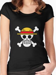 One Piece Straw Hat Flag Women's Fitted Scoop T-Shirt
