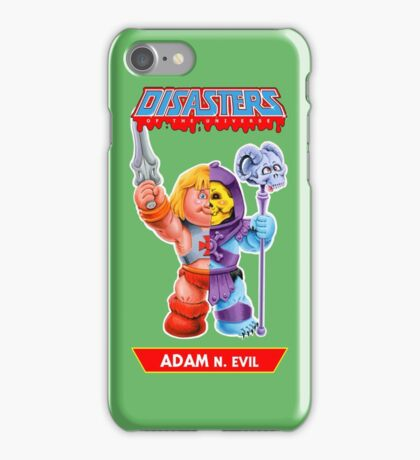Disasters of the Universe - 1. ADAM N. Evil iPhone Case/Skin