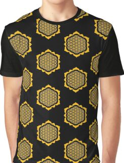 Flower of life - Lotus Flower, sacred geometry, Metatrons cube Graphic T-Shirt