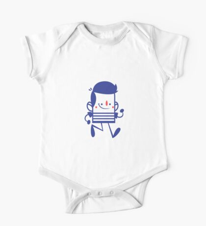 Funny Lovely Cartoon Vector Graphic Animinated One Piece - Short Sleeve