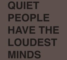 Quiet people have the loudest minds | Quote One Piece - Short Sleeve