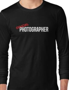 Official Photographer Funny Long Sleeve T-Shirt