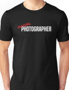 Official Photographer Funny Unisex T-Shirt