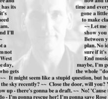 Doctor Who - Quotes from the 9th Doctor Sticker