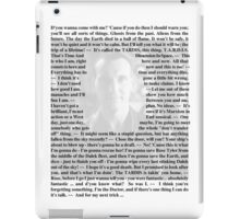 Doctor Who - Quotes from the 9th Doctor iPad Case/Skin