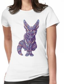 Fennec Fox (Color Version) Womens Fitted T-Shirt