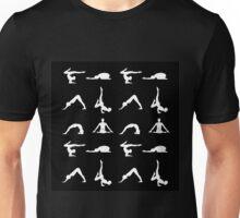Yoga poses silhouette Unisex T-Shirt