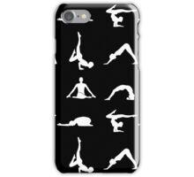 Yoga poses silhouette iPhone Case/Skin