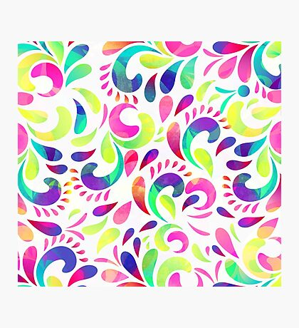colourful pattern Photographic Print