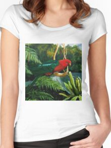 King Parrot         Acrylic painting  Women's Fitted Scoop T-Shirt