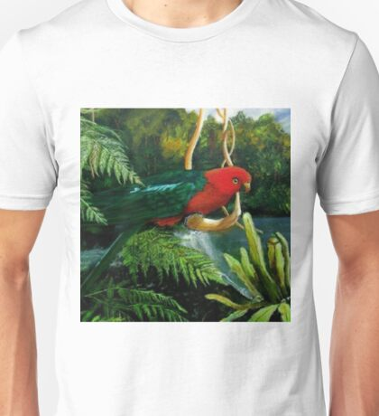 King Parrot         Acrylic painting  T-Shirt