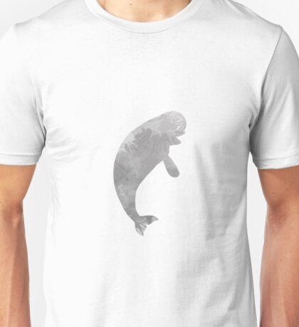 Beluga whale inspired silhouette Unisex T-Shirt