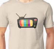 Colourful Vintage Tv Vector Graphic Unisex T-Shirt
