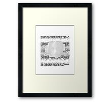Doctor Who - Quotes from Amy Pond Framed Print