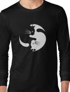 Yin Yang Cat Funny Long Sleeve T-Shirt