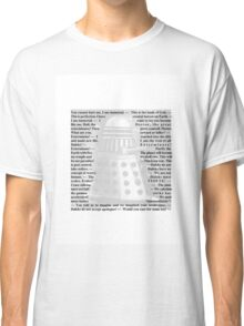Doctor Who - Quotes from the Daleks Classic T-Shirt